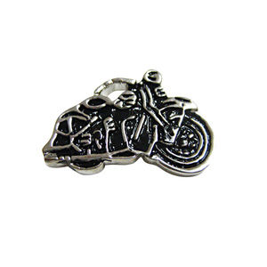 Black and Silver Toned Motorcycle Magnet